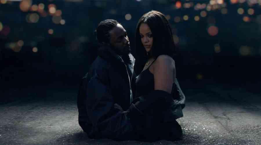 Rihanna ve Kendrick Lamar ile aynı sahnede.