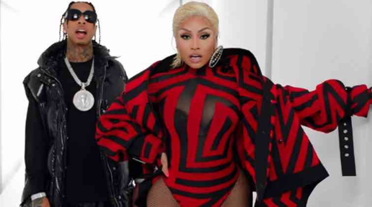 Nicki Minaj'dan klip görüntüleri.